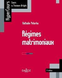 La couverture et les autres extraits de Les régimes matrimoniaux - 10e ed.