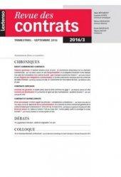 Revue des contrats N° 3, septembre 2016