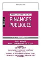Revue française de finances publiques N° 148, novembre 2019 : Quel avenir pour les finances locales