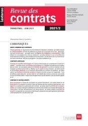 Revue des contrats n°2/2021