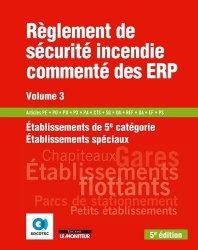 La couverture et les autres extraits de Règlement de sécurité incendie commenté des ERP