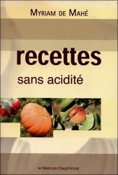 Recettes sans acidité