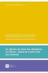 Réforme du droit des obligations en France : regard de l'autre côté des Pyrénées