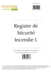 Registre de sécurité incendie ERP de type L (salles)