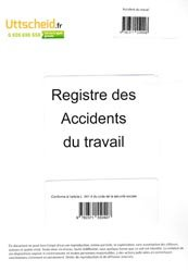 Registre des accidents du travail