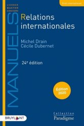 Relations internationales. 24e édition