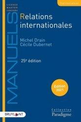 Relations internationales. 25e édition