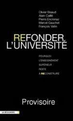 Refonder l'université