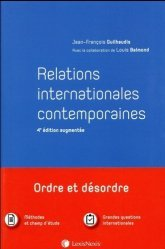 Relations internationales contemporaines. 4e édition revue et augmentée