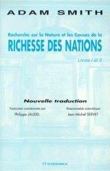 Recherche sur la nature et les causes de la richesse des nations.