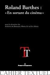 Roland Barthes : 'En sortant du cinéma'