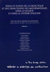 Rôles et places de la didactique et des didacticiens des mathématiques dans la société et dans le système éducatif