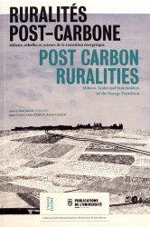 Ruralités post-carbone. Milieux, échelles et acteurs de la transition énergétique