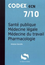 La couverture et les autres extraits de Santé publique - Médecine légale - Médecine du travail - Pharmacologie