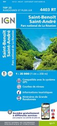 La couverture et les autres extraits de Piton de la Fournaise. 1/25 000