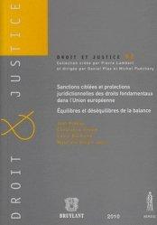 Sanctions ciblées et protections juridictionnelles des droits fondamentaux dans l'Union européeenne : équilibres et déséquilibres de la balance
