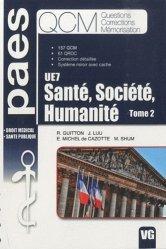 Santé, Société, Humanité  UE7 Tome 2
