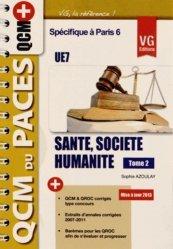 La couverture et les autres extraits de Santé, Société humanité Tome 2 UE7 (Paris 6)