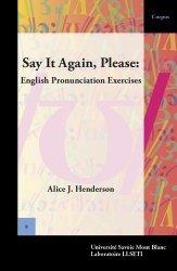 Say It Again, Please: English Pronunciation Exercises