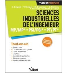 Sciences industrielles de l'ingénieur MP/MP* PSI/PSI* PT/PT*