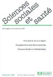 Sciences Sociales et Santé Volume 26 N° 3, Septembre 2008