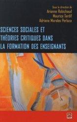 Sciences sociales et théories critiques dans la formation des enseignants