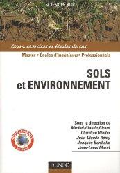 La couverture et les autres extraits de Sols et environnement