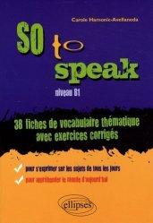 So to speak