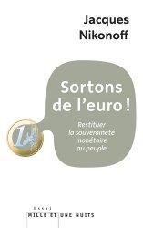 Sortons de l'euro !
