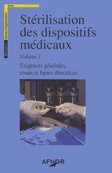 Stérilisation des dispositifs médicaux.  Vol 1&2