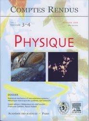 Statistical mechanics of non-extensive systems / Mécanique statistique des sytèmes non-extensifs
