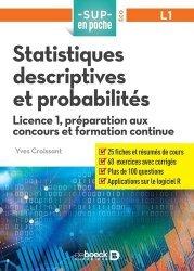 A paraitre dans Mathématiques-Université-Examens, Statistiques descriptives et probabilités
