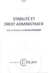 Stabilité et droit administratif