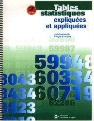 Tables statistiques expliquées et appliquées