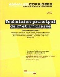 Technicien principal de 2e et 1re classe. Examens spécialités II, Edition 2019