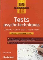 La couverture et les autres extraits de Tests psychotechniques. Concours, Grandes écoles, Recrutement, Edition 2020