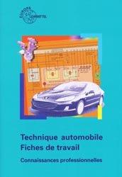 Technique automobile  - Fiches de travail