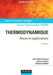 Thermodynamique  Bases et applications