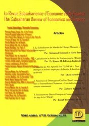 The Subsaharian Review of Economics and Finance