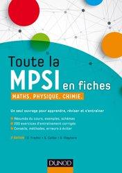 Toute la MPSI en fiches - Maths, Physique, Chimie