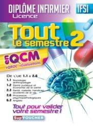 La couverture et les autres extraits de Tout le semestre 2 en fiches mémos - Diplôme infirmier - DEI IFSI- 4è ed - Révision et entrainement