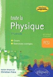 Toute la physique 1ère période PCSI