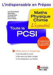 La couverture et les autres extraits de Formulaire PCSI Maths - Physique - Chimie - SII