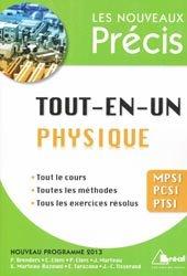 La couverture et les autres extraits de Physique MPSI - PTSI 1ère année