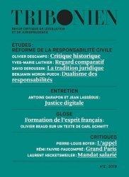 Tribonien - Revue critique de législation et de jurisprudence N° 2/2019. Réforme de la responsabilite civile