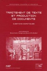 Traitement de textes et production de documents