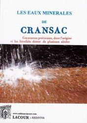 Traité sur la nature et les propriétés des eaux minérales de Cransac