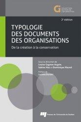 Typologie des documents des organisations