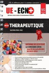 La couverture et les autres extraits de UE ECN en fiches Thérapeutique
