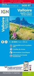 La couverture et les autres extraits de Valloire : Aiguilles d'Arves, Col du Galibier. 1/25 000